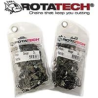 2 sierras Rotatech para motosierra, 50cm, cadena de 76eslabones