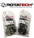 "x2 (Due) Rotatech catene per motosega 3/8"", 1.3mm, 52 maglie guida, 35cm compatibile con Dolmar, Echo, Einhell, Hitachi ed altri"
