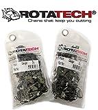 x2 (Two) Rotatech 1.1 mm Kettensäge Kette für Bosch AKE 35/AKE 35-17S/AKE 35-18S 35cm Kettensäge