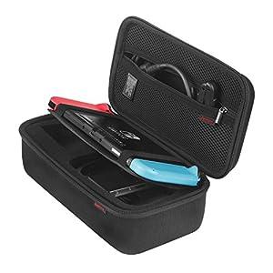 Bestico Tasche für Nintendo Switch -Tragetasche für Nintendo Switch mit 10 Hüllen für bis zu 10 Spiele. Netzteil, HDMI-Kabel, Joy-con grip,Joy-con strap