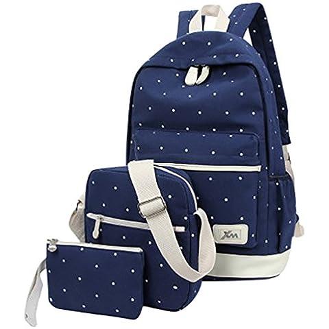 MingTai lona mochila escolar juvenil bolsas de colegio Bolsos de las mujeres bookbags cartera del bolso La