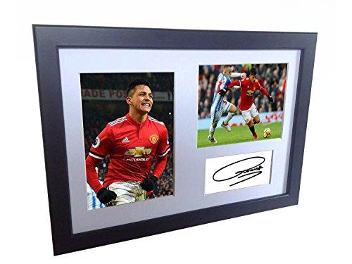 Kicks Alexis Sanchez 12x 8A4SIGNED Manchester United-Autogrammkarte Foto Bilderrahmen Poster