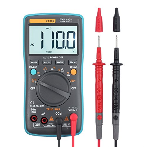 Multimeter 9000 Counts Auto-Ranging Digital Multimeter mit True RMS AC / DC Spannung Strom Widerstand Kapazit?t Digital Multi Tester f¨¹r Schule Labor Fabrik
