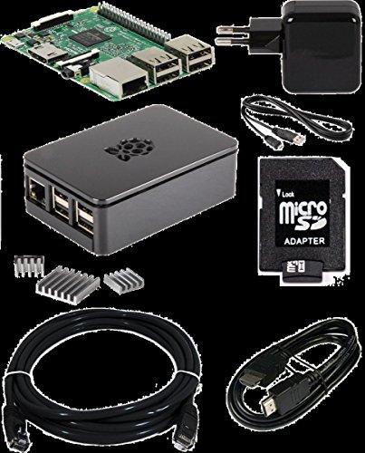 Raspberry Pi 3 + Gehäuse s + NT + 16GB + 2m HDMI + Kühlk.