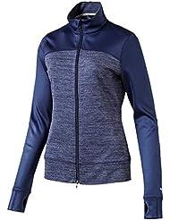 Puma W Colorblock Full Zip Jack–Peacoat, Deutsche Bundesliga, mujer, color beige, tamaño 0