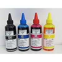INCHIOSTRO COMPATIBILE PER RICARICA HP 364 4 x 100 ml nero magenta blu e giallo KIT 400 ML