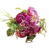 Künstliche gefälschte Blumen Land Lotus Floral Hochzeit Bouquet Party Home Decor YunYoud Gefälschter Blumenblumenstrauß der künstlichen Blume der Lotosblumenstrauß
