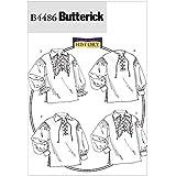 McCall Patterns B4486 Butterick - Patrones para camisas y blusas (tallas XN, XL, XXL y XXXL), color blanco