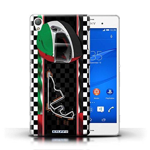 Kobalt® Imprimé Etui / Coque pour Sony Xperia Z3 / Autriche/Spielberg conception / Série F1 Piste Drapeau AbuDhabi