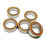 Zoty Smr128C/2os 8x 12x 3.5mm Orange en céramique en caoutchouc scellé Roulement Smr128C-2rs pour articles de pêche Lot de 5pcs
