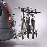 Mottez Porte-vélos Plateforme Rabattable 3 vélos 3 vélos Gris