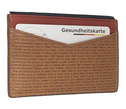 Fossil Herren Kartenmäppchen Andy - Card Case Ausweis- & Kartenhülle, Braun (Cognac), 0.6x7x10.2 cm