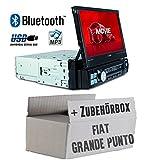 FIAT Grande Punto 199 - Autoradio Radio Caliber RMD574BT - Bluetooth | MP3 | USB | SD | 7' TFT - Einbauzubehör - Einbauset