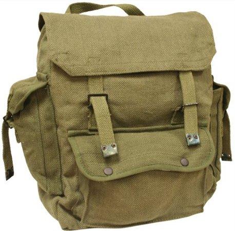 Zip Zap Zooom - Zaino militare da uomo, in stile combattimento, per backpackers, borsa a spalla con spallacci, in tela di cotone Green