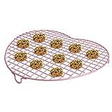 Chefmade Supreach Kuchen Keks Abkühlgitter zum Backen, Stahl, Antihaftbeschichtung, Herzform, Backformen, rosa, 38 x 35 x 4 cm (15 x 14 x 1,5 in)