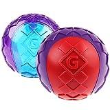 GiGwi 6410 Hundespielzeug schwimmfähiger G-Ball mit Quietscher, 2-er Pack, Hundeball / Spielball, M