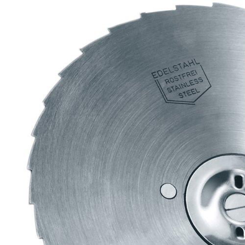 Graef 761007 Edelstahlmesser gezahnt, passend für Modelle: H9,H91,Al760