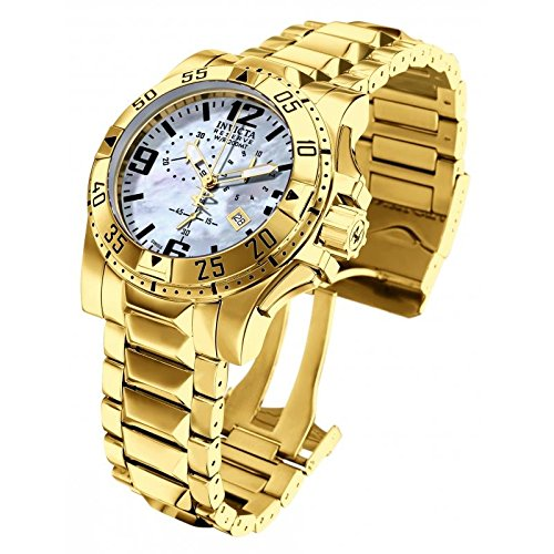 Invicta 6257 Men's Excursion Reserve MOP Blue Dial Gold Plated Steel...