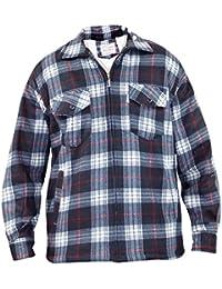 New Mens Sherpa Fleece Lined Check Print Faux Fur Jacket Zip Collar Winter Coat