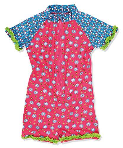 Playshoes Mädchen Einteiler Blumen, UV-Schutz nach Standard 801 und Oeko-Tex Standard 100, Gr. 86 (Herstellergröße: 86/92), Mehrfarbig (18 Pink) Kinder Mädchen Blumen-shop