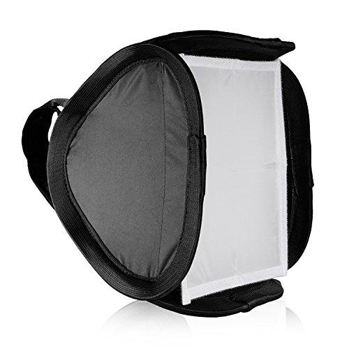 Neewer Professionelle Mobiles Faltbare Off-Kamera-Blitz-Fotografie Studio Portrait Softbox mit L-förmigen Bügel & Blitz Ring Außen Diffusor und Tragetasche für DSLR Kamera -