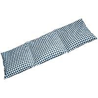 Preisvergleich für Traubenkernkissen 50x20 3-Kammer Bio Stoff blau-weiß | Wärmekissen / Körnerkissen