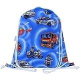 Toddler Swim Bag Drawstring Backpack PE Bag Emergency Vehicles