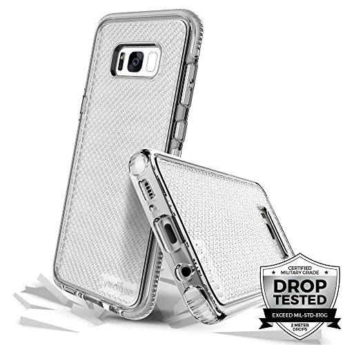 Prodigee [Safetee] For Samsung Galaxy S8 Cover Protective case schlank Handyhülle Fall Schutz dünn Hülle Stück dünner dünn, Silver Clear Transparent 2 Meter Militär Drop Test zertifiziert