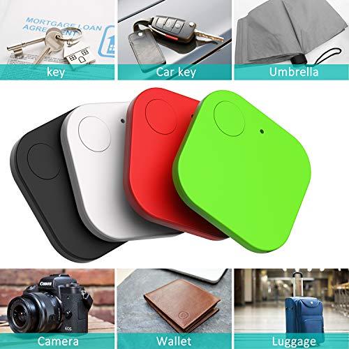 Kimfly Schlüsselfinder Anti-Lost Tracker, Bluetooth Tracker Wallet Telefonschlüssel Alarm Reminder fürTelefon Haustiere Schlüsselbund Brieftasche Gepäck(4pcs)