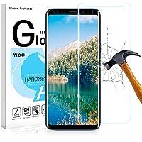 Galaxy S9 Panzerglas Schutzfolie,Yica 9H Härtegrad 3D HD Blasenfrei Ultra Klar Anti-Kratzer Gehärtetem Panzerglasfolie Hartglas Folie für Samsung Galaxy S9