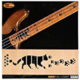 Für Bass Griffbrett Marker Inlay Sticker Decals – Katzen Fuß print-bp