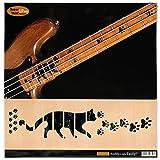 Für Bass Griffbrett Marker Inlay Sticker Decals–Katzen Fuß print-bp