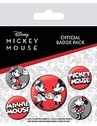 Mickey Mouse Paquete de chapas, Multicolor, 10 x 12,5 cm, 10
