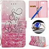 Etsue Cuir Coque Pour Samsung Galaxy J7 2017 Samsung Galaxy J7 2017 [Version US],Etui Housse Cuir Portefeuille Coque pour Samsung Galaxy J7 2017,Fashion Mode Conception Coque Étui avec Fonction de Support Etui Protecteur Portefeuille Cas Magnétique Pochette pour Samsung Galaxy J7 2017,Luxe Coque avec Blitter Strass Diamant Colorful Pattern PU Leather Wallet shell With Card Holder Function for Samsung Galaxy J7 2017 +1 x Bleu stylet + 1 x Bling poussière plug - Nuages