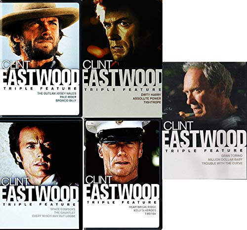 The Best of Clint Eastwood Fifteen Movie Collection mit Outlaw Josey Wales, Kelly's Heroes, Space Cowboys & Dirty Harry 15-DVD Bundle