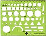 Jakar General Purpose 1 Stencil Template Artist Design Drawing Aid Tool 4601