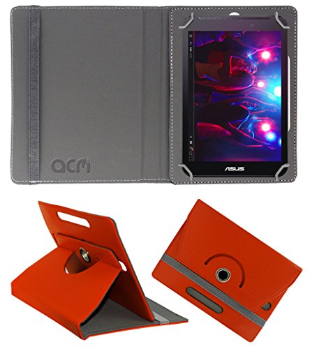 Acm Rotating 360° Leather Flip Case for Asus Fonepad 7 Fe170 Cover Stand Orange  available at amazon for Rs.149