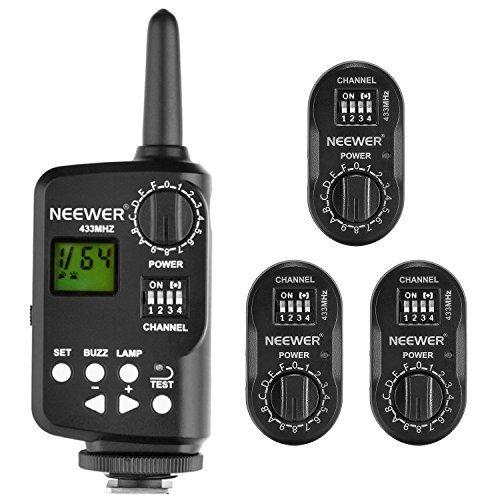 Neewer FT-16 16-Kanal Funkfernbedienung Blitzauslöser Set, beinhaltet (1) Sender und (3) Empfänger für AD180 AD360 Speedlite Flash, geeignet für Canon, Nikon, Pentax, Olympus Kameras