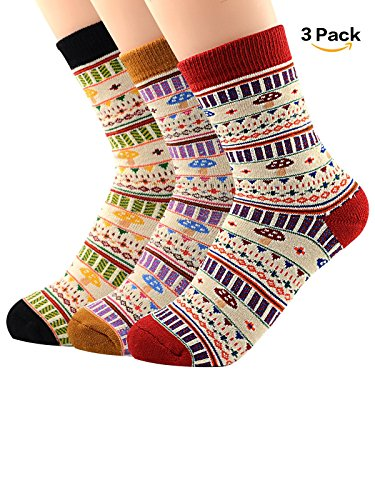 tro Stricken Winter Fall Crew Weiche Socken für kalte Baumwolle Casual Kissen Fashion Wolle Socke 3–5PACK, MNFUXS0736SXD3P (Süßes Paar Onesies)