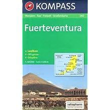 Fuerteventura, 1:50k carte de randonnée KOMPASS # 240