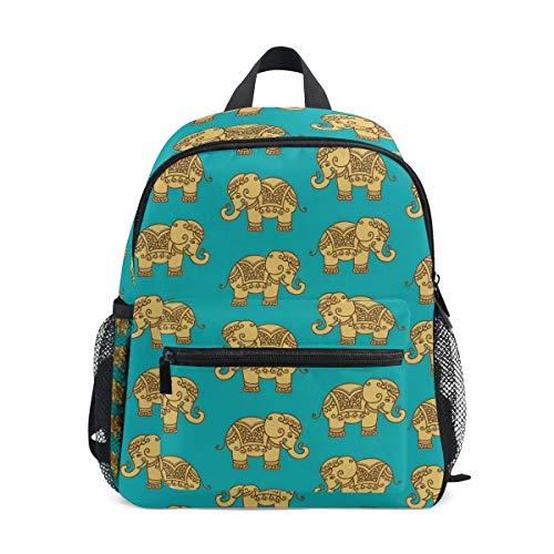 Mochila para niños, Ligera, para niños y niñas, diseño de Elefantes