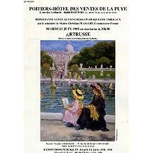 POITIERS-HOTEL DES VENTES DE LA PUYE, VENTE UX ENCHERES PUBLIQUES DE TABLEAUX PAR Me Ch. PLASSART, JUIN 1995, ARTRUSSE