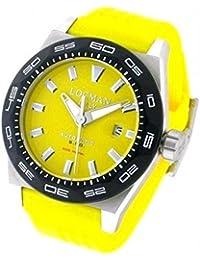 amazon co uk locman watches watch locman men 0215 v20kylnks2y breaker steel quandrante yellow