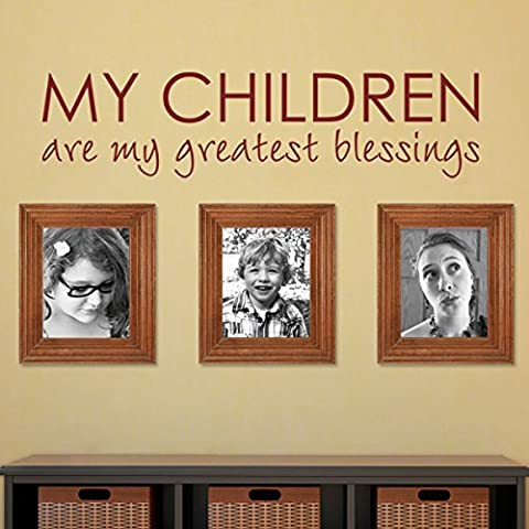 My les enfants sont My Greatest blessings-custom Nursery Chambre Bébé en Bible Bénédiction Citation en Art Home Love Sticker mural (L, blanc)