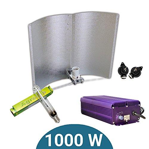 Kit d'éclairage électronique Dimmable Lumatek 1000 W + Agrolite SHP + réflecteur Adjust-a-Wings Enforcer