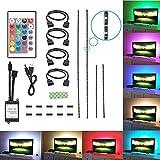 TV retroiluminación, feewer 2x USB + 2x 101,5+ iluminación USB luz LED para HDTV, Televisor LED resistente al agua luz de sobremesa con mando a distancia inalámbrico controlador RGB LED Strip