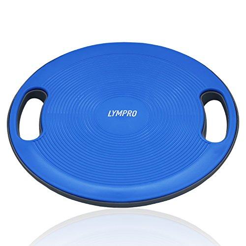LYMPRO Balance Board mit Griffen, Ø 40 cm, bis max. 150 kg | 2 Jahre Geld-zurück-Garantie| Balancegerät, Kreisel, Wackelbrett – für eine gesunde Körperhaltung (Arm-brett)
