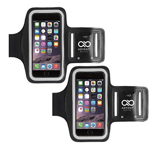 Advent Basics ™ Sportarmband für Smartphones bis zu 4.7zu 14cm (schwarz), Arm Band Pack Of (Billig Schwarz Korsett)