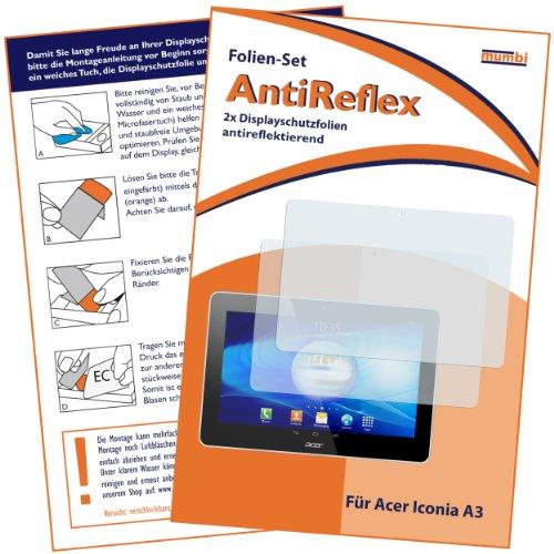 mumbi Schutzfolie kompatibel mit Acer Iconia A3-A10 Folie matt, Bildschirmschutzfolie (2x)