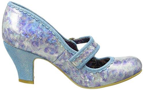 Irregular Choice Candy Whistle, Mary Jane femme Bleu (Bleu)